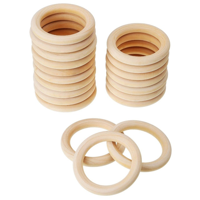 Us 5 67 7 Off Aliexpress Com Buy 20 Pack Wood Rings Wooden Rings For Craft Ring Pendant And Connectors Jewelry Making 70mm From Reliable Wood Diy