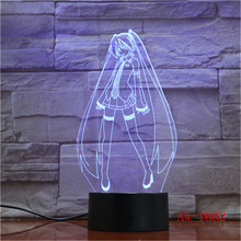 Tsukino Usagi Figure USB 3D LED Night Light Decoration Boys Child Kids Baby Gifts Japanese anime Sailor Moon Table Lamp AW-1682