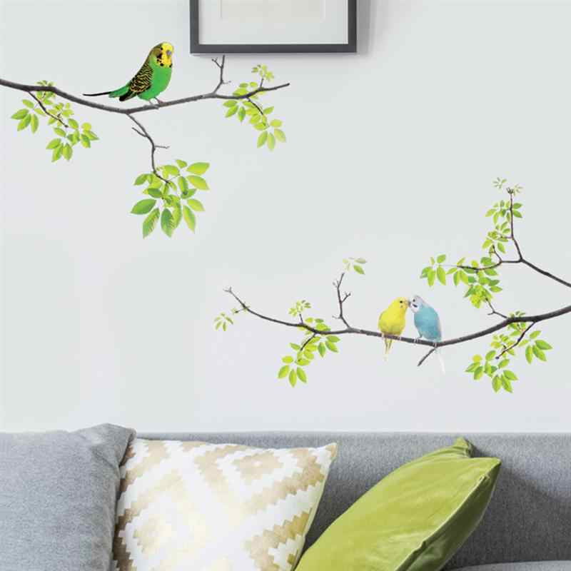 1Pc Wall Decals Birds on Tree Peel and Stick Fresh Removable Wall Stickers for Kids Living Room Bedroom Nursery Room