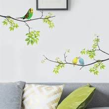 1Pc Wall Decals Birds on Tree Peel and Stick Fresh Removable Wall Stickers for Kids Living Room Bedroom Nursery Room(China)