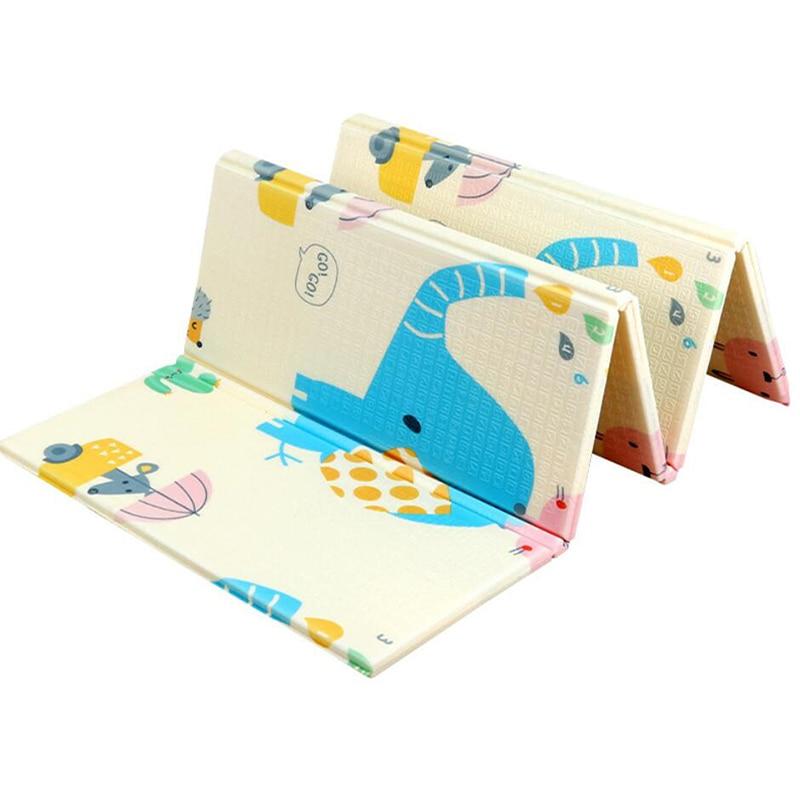 Estera de juego de bebé de doble cara 1cm grueso juguetes para niños XPE plegable alfombra de gateo juego antideslizante para los niños es la alfombra de piso suave-in Esteras de juego from Juguetes y pasatiempos    3