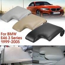 Новая кожаная крышка подлокотника с пластиковой пластиной для BMW E46 3 серии 1999-2005 левый руль черный/серый/бежевый