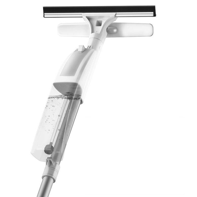 Nettoyant multi-fonction pour fenêtre de pulvérisation peut mosit windows frotter le verre avec silicone grattoir tête essuyer les taches d'eau poignée ergonomique