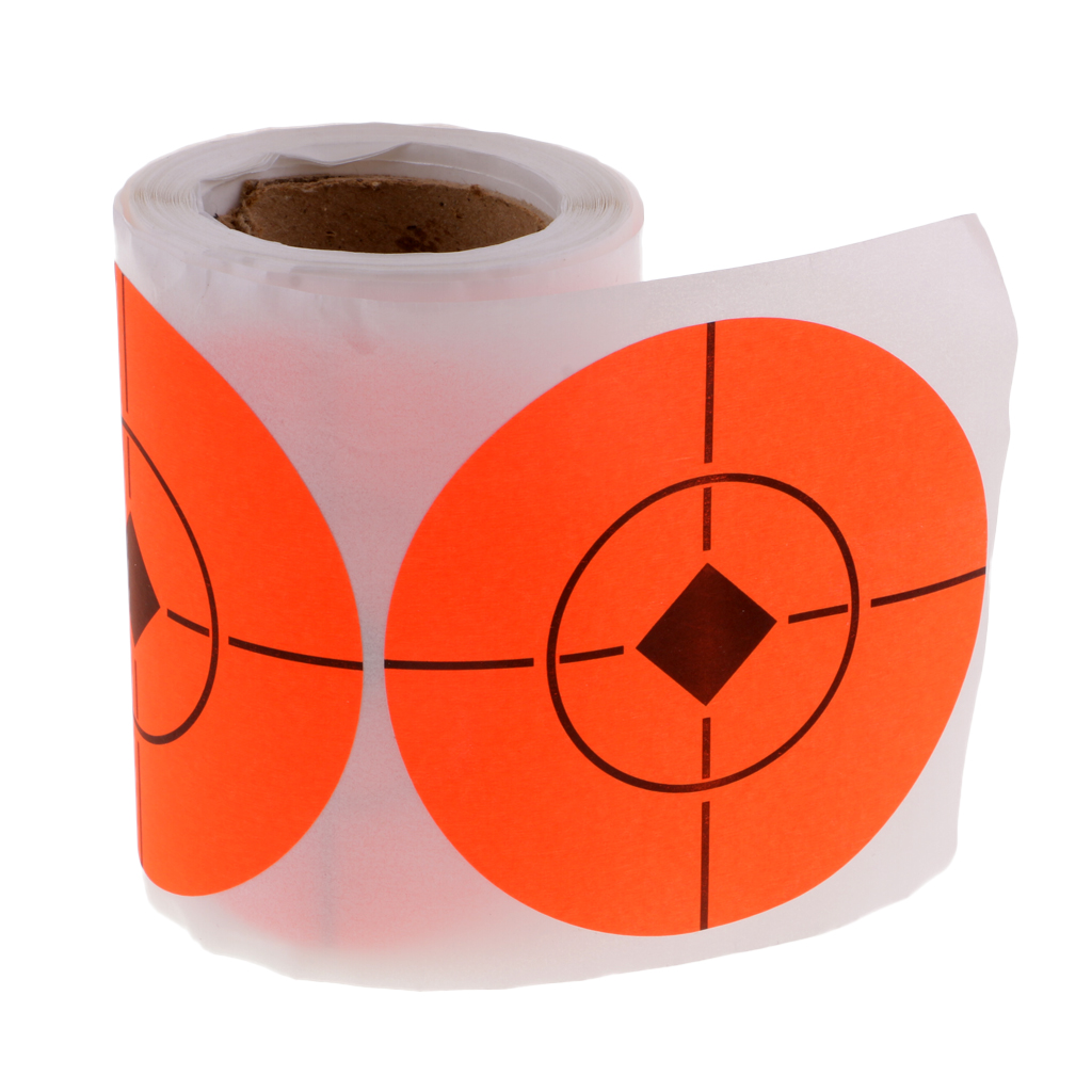 100pcs Fluorescent Adhesive Target 3'' Paper Target Shooting Target Sticker Hunting Shooting Training Paintball Accessories