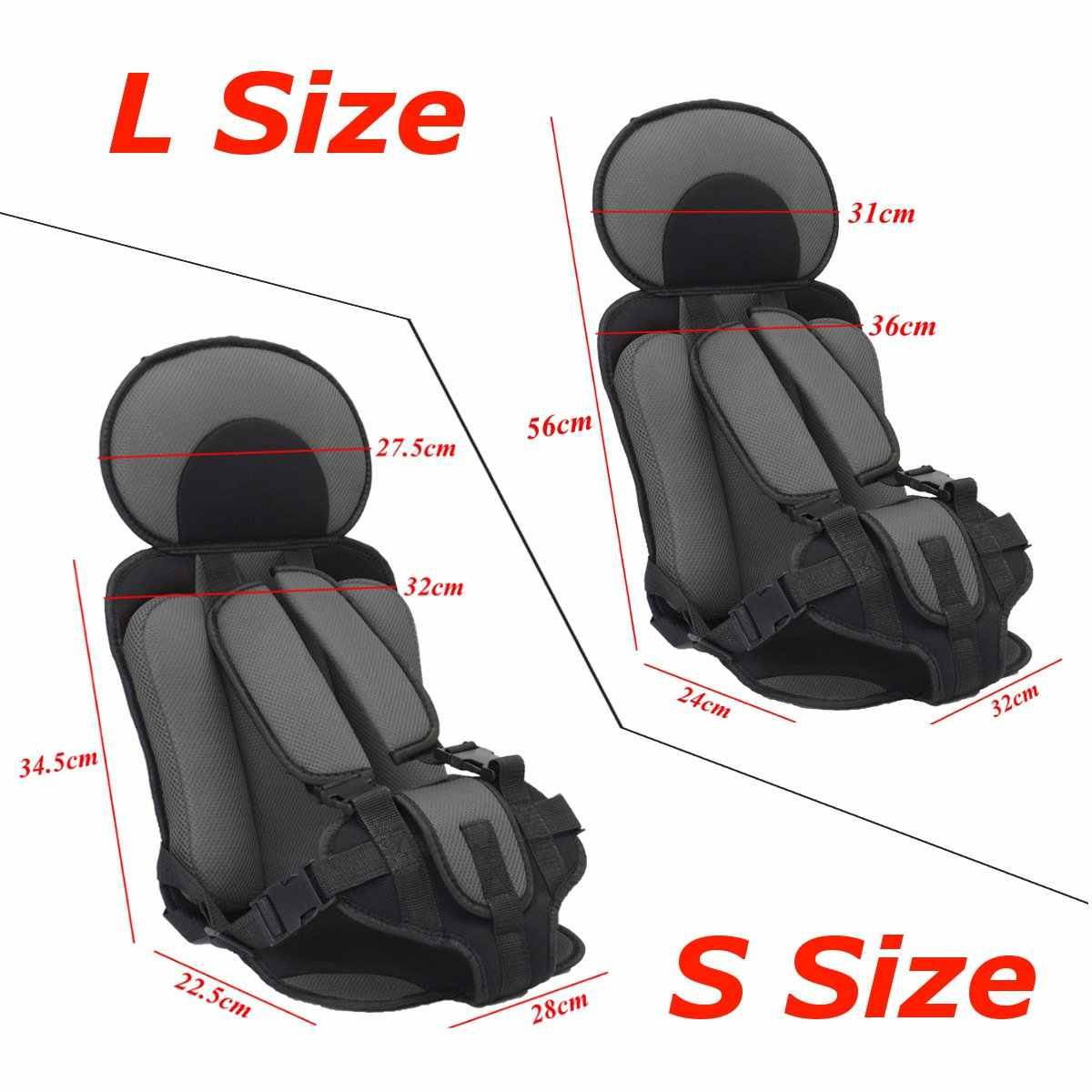 0 6 And 6 12 Year Old Kids Safe Seat Portable Baby Safety Seat Children S Chairs Thickening Sponge Kids Child Car Seats 2 Size