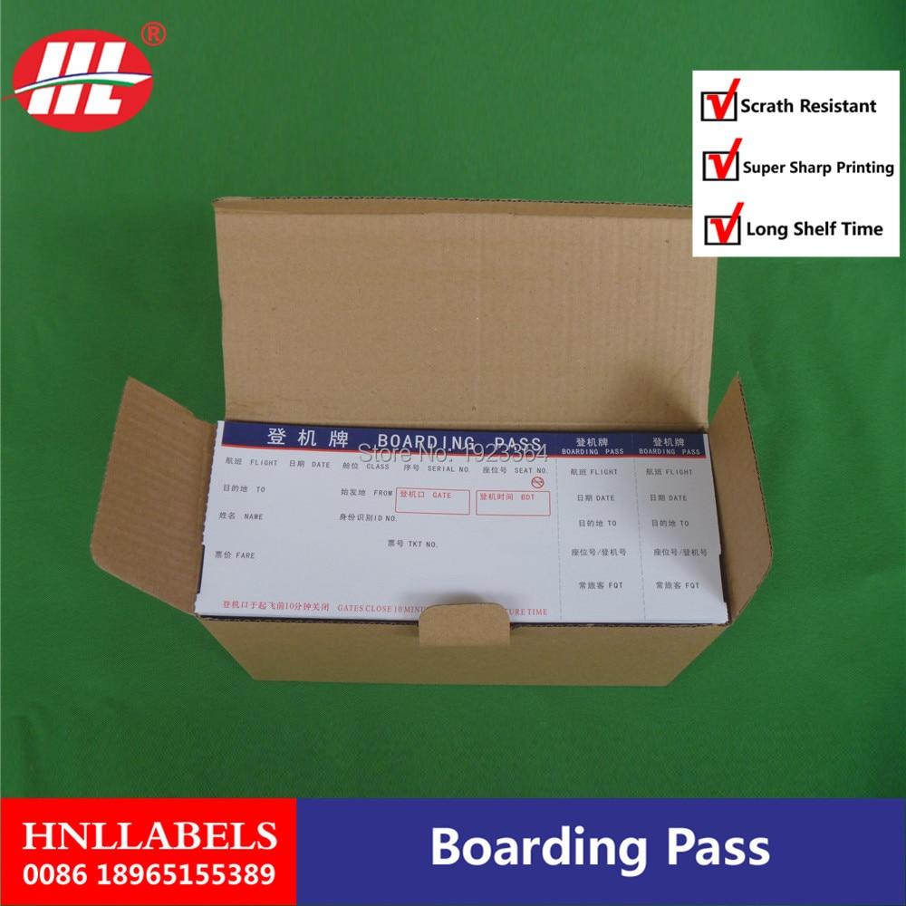 Boarding Pass /thermal Boarding Pass Paper/ATB Ticket-Fan-fold Boarding Pass