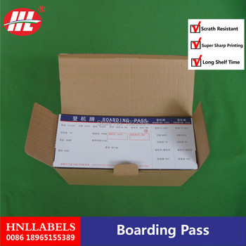 Boarding pass /thermal boarding pass paper/ATB ticket-Fan-fold Boarding Pass фото