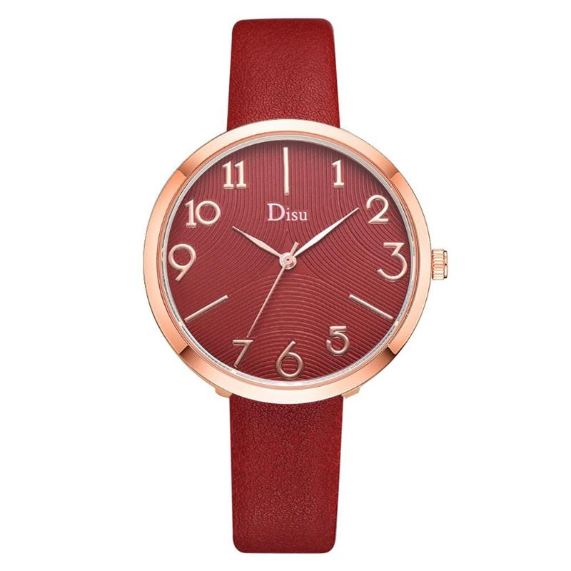 2019 Classic Digital Quartz Watch Women PU Leather Large Dial Casual Wristwatch High Quality Fashion Womens Ladies Simple Watche