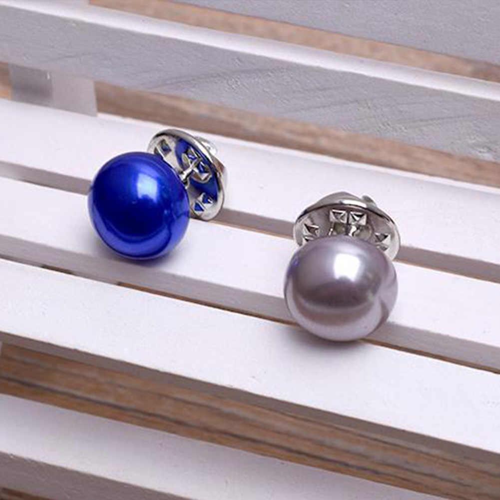 2018 ホット販売エレガントな女性ジュエリー韓国スタイル模造真珠のブローチピンの襟カーディガンショールバックル DIY スカーフブローチピン