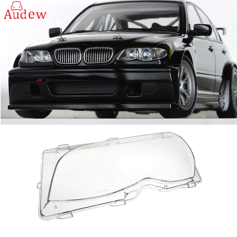 Clear Right/Left Car Housing Headlight Lens Shell Cover Lamp Assembly For BMW E46 2001-2005 4DR 3-Series/Touring/Wagon/Facelift