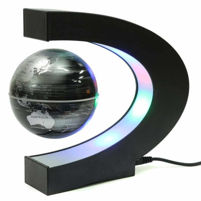 C форма светодиодный карта мира Декор магнитной левитации Плавающий Mova Глобус школы география Обучающие ресурсы домашний офис Декор подарок