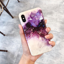 XINDIMAN purple covers for iphoneX case Amethyst silicone iphone 6 6s 6plus soft TPU 7 capa 7plus 8plus XR