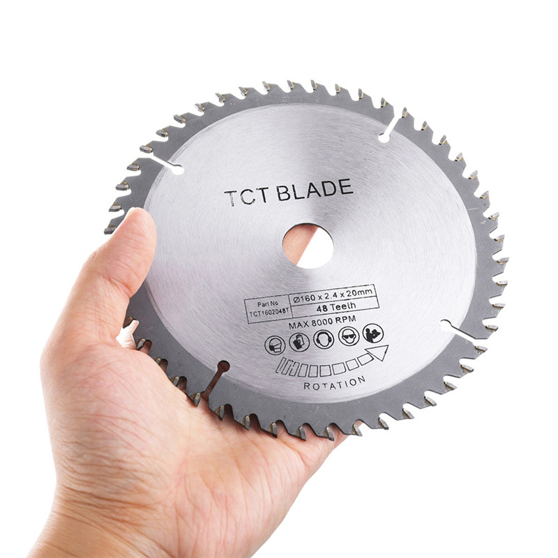 Multi-functional Circular Saw Blade 160x20x48T TCT Hard Alloy Saw Blade 8000rpm Outter Diameter 160mm for Wood MetalMulti-functional Circular Saw Blade 160x20x48T TCT Hard Alloy Saw Blade 8000rpm Outter Diameter 160mm for Wood Metal