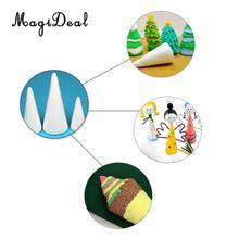 Magideal 5 Pcs Kegel Vormige Styrofoam Foam Ornamenten Voor Handgemaakte Diy Modelling Ambachten Glad Oppervlak Handwerk Party Decoraties