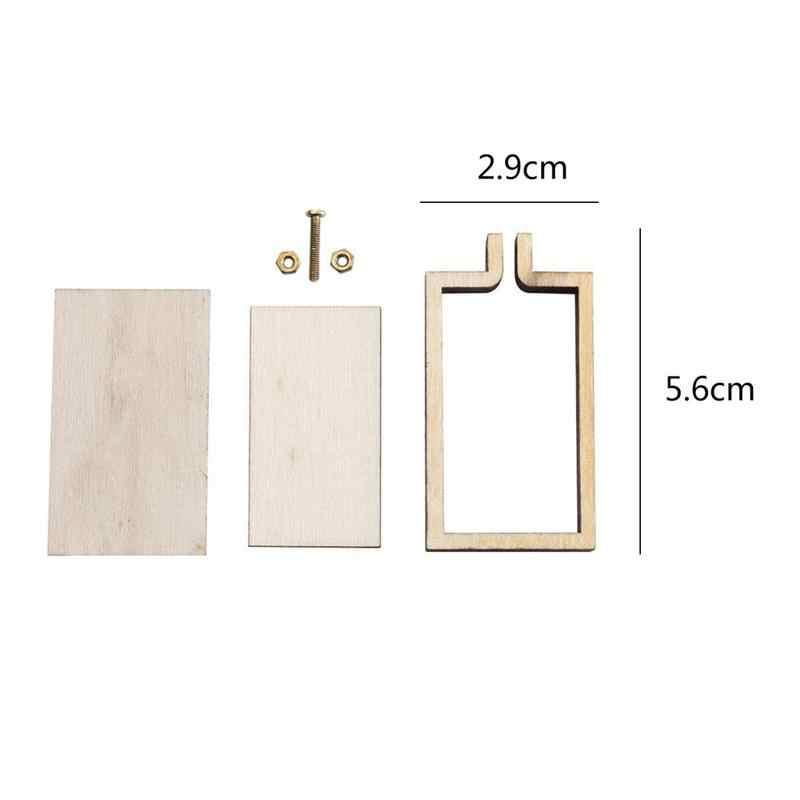 Quadro fixo de bordado, ponto cruz diy, ponto de costura, mini arco/anel de madeira, artesanato, ferramenta de costura, acessórios práticos