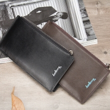 Multi-Functional Mens Wallet Long Zipper Buckle Card Package Multi-Card Position Clutch