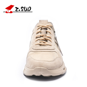 ZSUO Brand Fashion Sneakers Men Shock-absorbing Sole Men's Shoes Casual High Quality Microfiber + Breathable Canvas Shoes Men 1