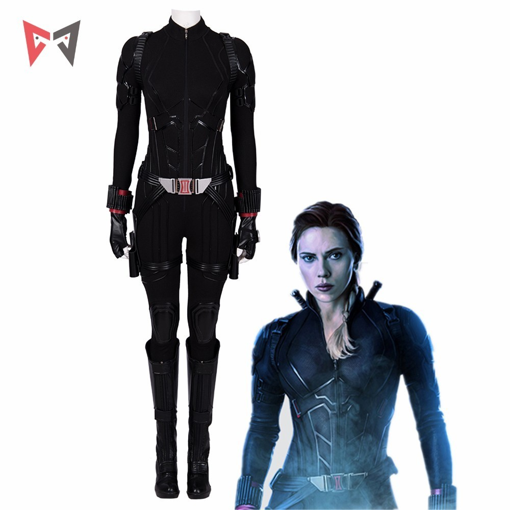 New 2019 Avengers 4 Endgame Black Widow Cosplay Costume Natasha Romanof Outfit Jumpsuit Halloween Party Custom Made
