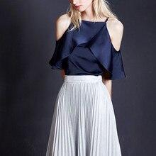 XXL korean style women ruffle blouse plus size summer tops for women 2019 short sleeve cold shoulder tops vintage woman blouses