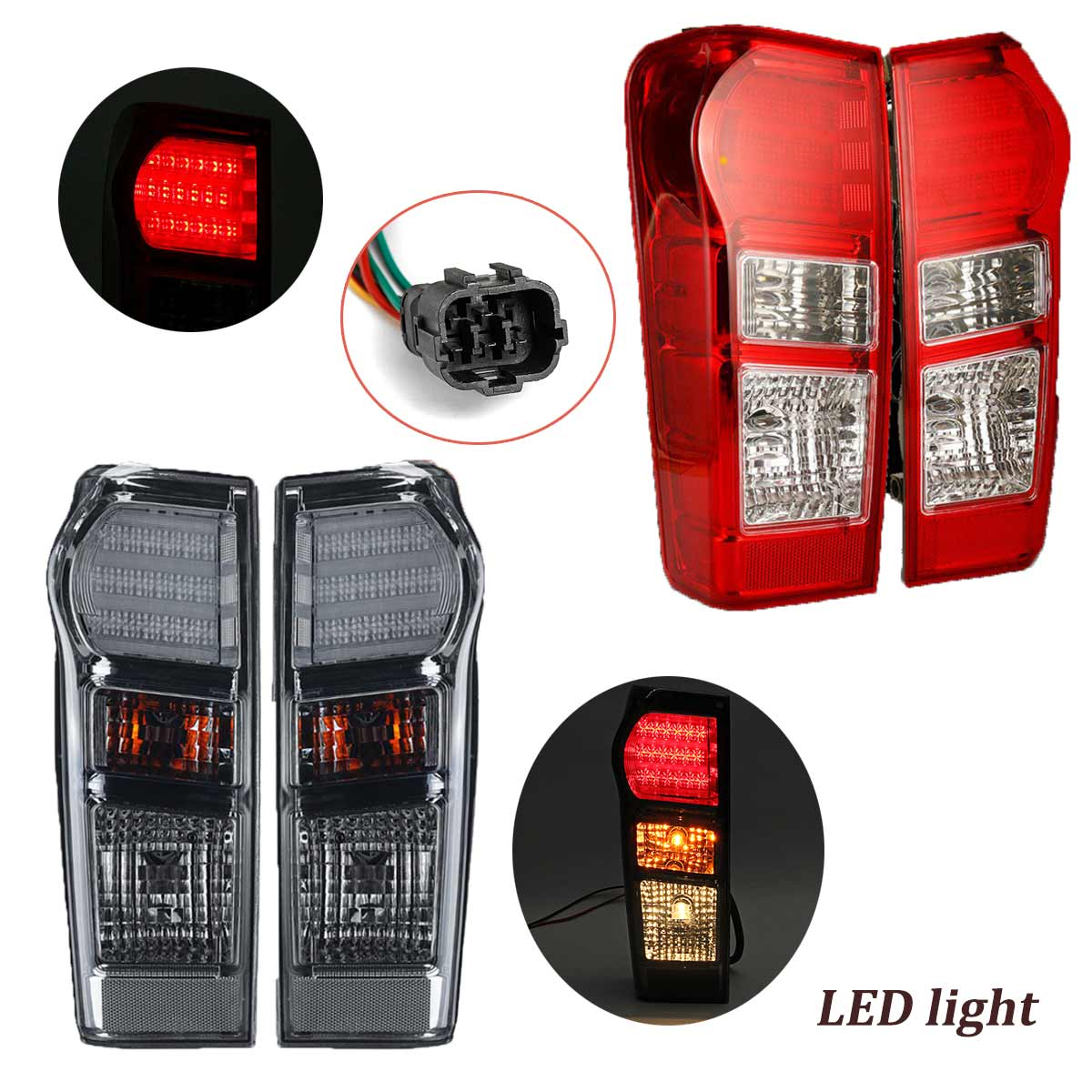 1x/2x Left/Right Rear LED Tail Light For Isuzu Dmax Yukon Utah 2012 2013 2014 2015 2016 2017 2018 w/ wire Harness1x/2x Left/Right Rear LED Tail Light For Isuzu Dmax Yukon Utah 2012 2013 2014 2015 2016 2017 2018 w/ wire Harness