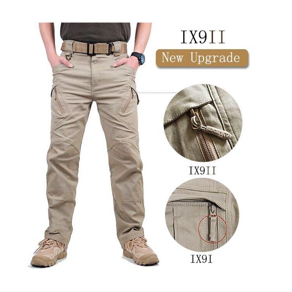 con muchos bolsillos senderismo para caza ligeros TIANNBU Pantalones t/ácticos para hombre