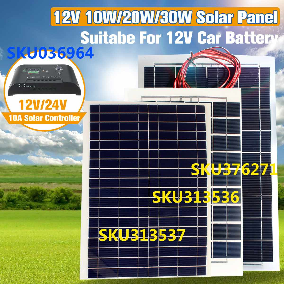 Kinco 30 W 12 V chargeur de batterie de panneau solaire Semi Flexible + câble pour camping-car de bateau de RV pour des produits de batterie de trickle