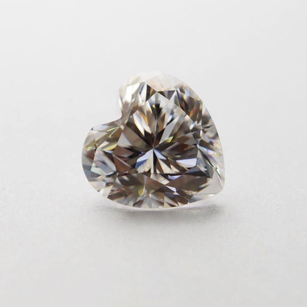 4*4 mm DEF Heart Cut White Moissanite Stone Loose Moissanite Diamond 0.21carat for Jewelry