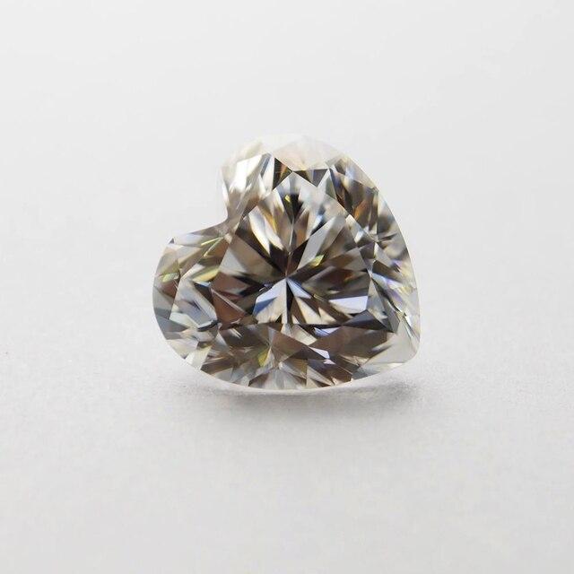 4*4mm DEF Tim Cut Trắng Moissanite Đá Loose Moissanite Kim Cương 0.21 carat cho Đồ Trang Sức