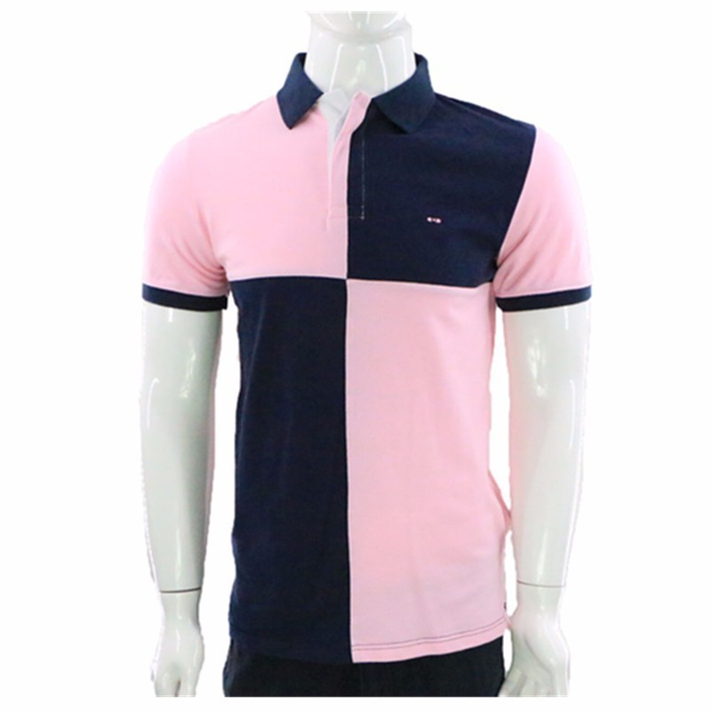 Eden Park Men/'s Patchwork SS Polo Shirt Rose Eden Park Polo