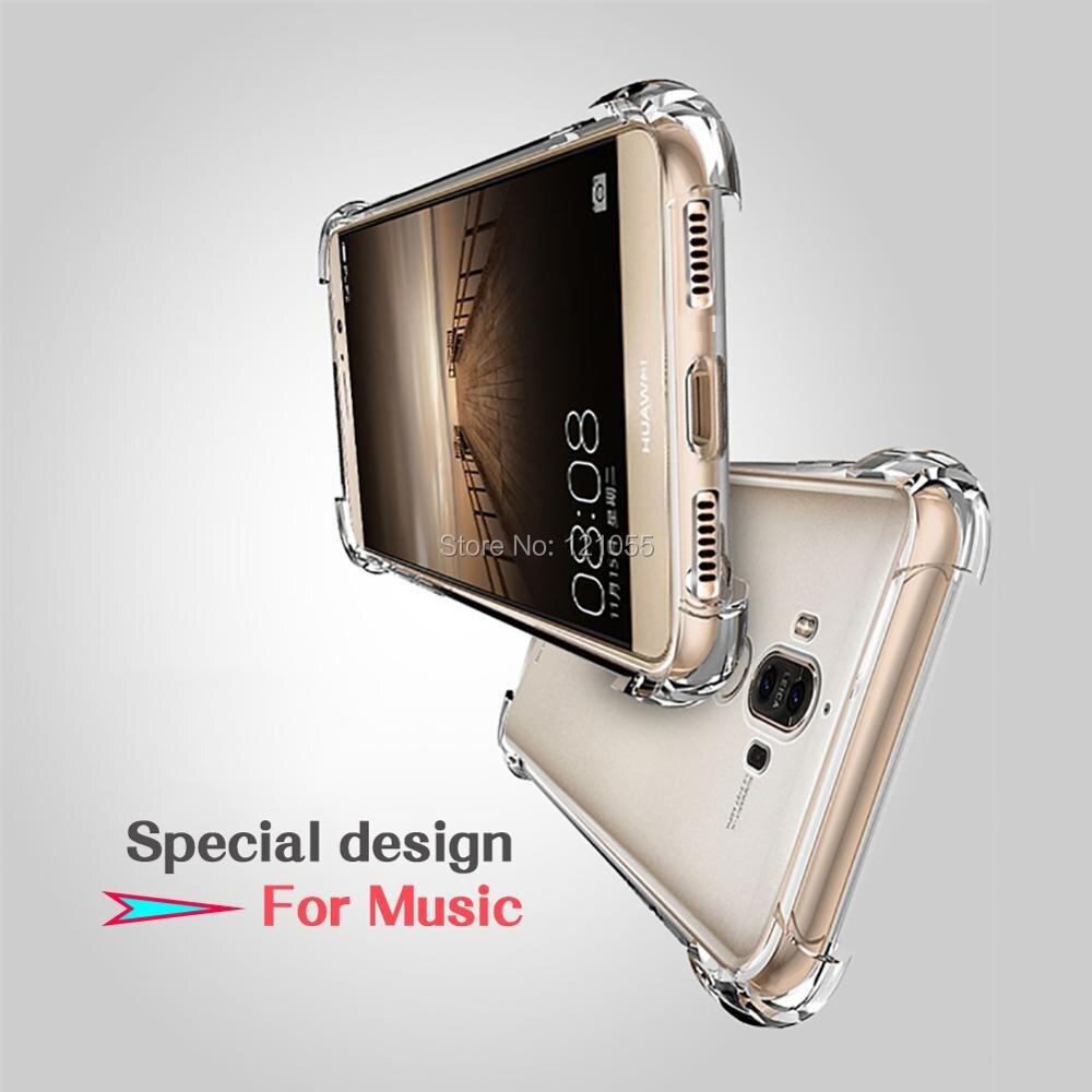 Capa de Silicone Para Huawei Companheiro 20 Pro P20 lite Nova 3 Honra 9 tampa traseira TPU bumper Canto Transparente Clara caso a granel 100 pçs/lote - 3