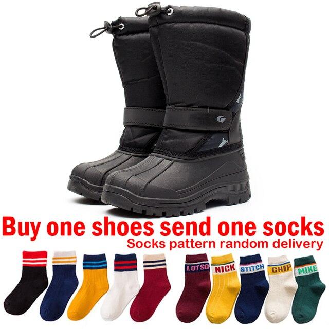 colores armoniosos 100% de alta calidad gran surtido € 37.19 |Botas de agua botas de invierno para niños, botas para la nieve de  los niños raquetas de nieve niñas al aire libre zapatos de senderismo ...