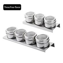 Stainless Steel Seasoning Jar Kitchen Spice Box Barbecue Cruet Pepper Sauce Chili Powder Storage Bottle