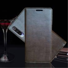 Para xiao mi 9 caso de luxo couro genuíno caso da aleta para xiao mi 9 livro magnético capa carteira para xaio mi 9 caso do telefone coque