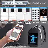 Dc 5 v led display dinâmico wifi mochila portátil notebook app controle 20l saco de escola à prova dwaterproof água led mochila para publicidade|Luzes de publicidade| |  -