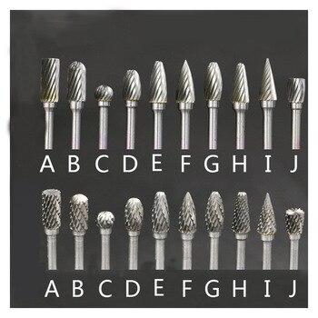 цена на 10 Pcs 3x6mm Shank Tungsten Carbide Steel Grinding Head Burrs Mini Drill Bit Diamond Burs Milling Cutter Material Rotary Burr