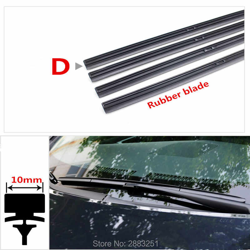 Free shipping Car Wiper Blade Insert Rubber strip (Refill) for NISSAN qashqai j11 juke Serena tiida teana Almera accessories