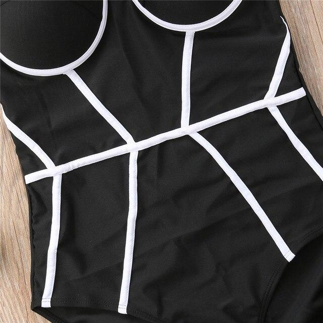 Elegant Strapless Push Up One Piece Swimsuit Women Black Patchwork Body Swimwear Bodysuit Swimming Bathing Suit Lady Beachwear