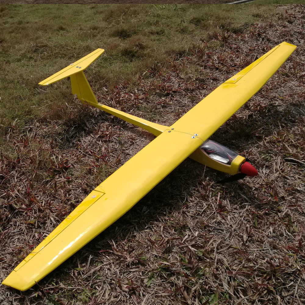 1550mm DIY Balsa RC Glider Kit Yellow or White Optional DBRGK01