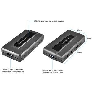 Image 3 - Ezcap287 USB 3.0 HD oyun yakalama kartı cihazı canlı akışı kayıt EasyCap 1080p 60fps tak ve çalıştır XBOX One için PS4 WII U