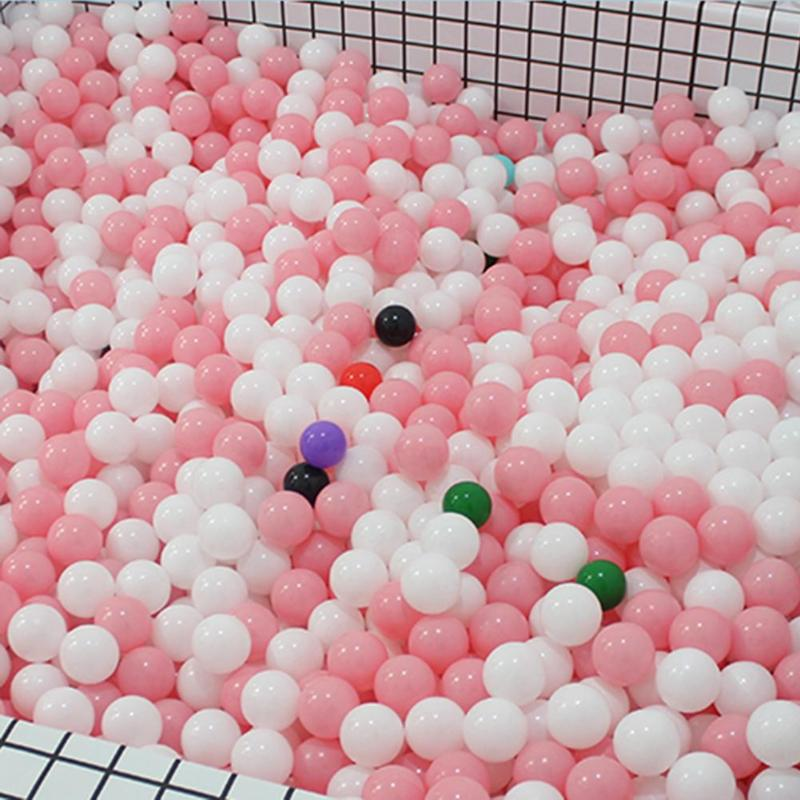 100pcs Baby Safe Soft Plastic Balls Play Pool Ocean Balls For Kids Toy Gift  For The Pool Children Toy Gift With Black Blue Pink