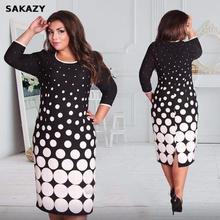 Big Size Fashionable Women Dresses New 2019 Plus Size Women Clothing 6xl Autumn Dress Casual O-neck Plaid Office Bodycon Dress