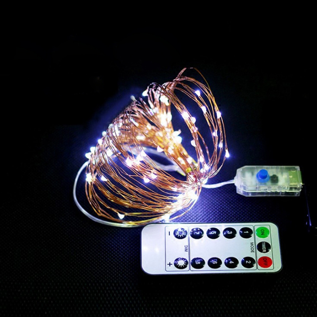 200/100/50PCS LED USB Copper Wire String Lights Outdoor 8 Modes Remote Control Decorative Fairy Lights for Garland Street