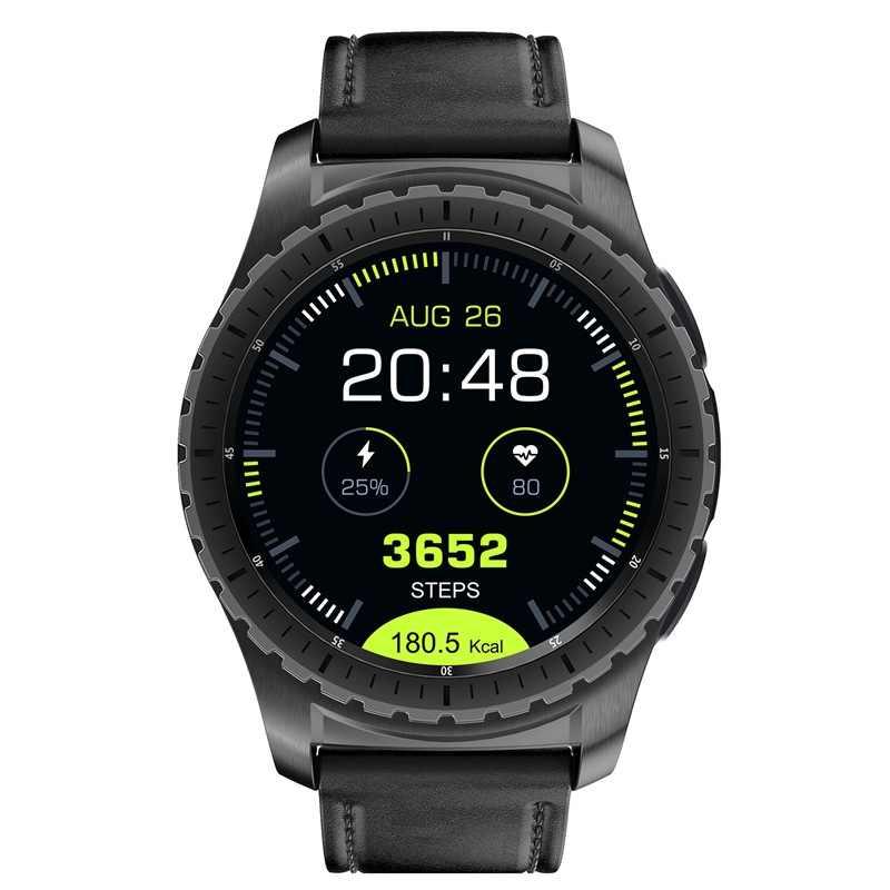 KW28 Bluetooth Смарт часы Поддержка SIM/tf-карты мужские наручные часы фитнес-трекер сердечного ритма для Android IOS телефон черный