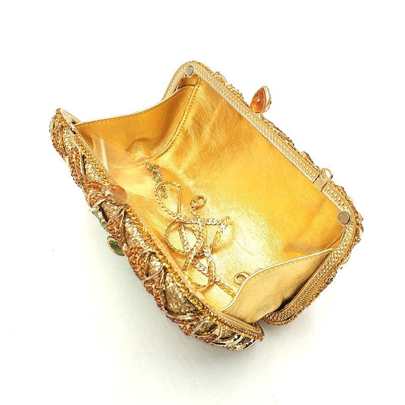 Transparent Diamants Fleur send Luxe À 1 Sac Femmes Soirée Mariage Accessoires Sacs Color Embrayages Pictures De Élégant Fête Main Nuptiale Strass Vintage Gold Aq640x0