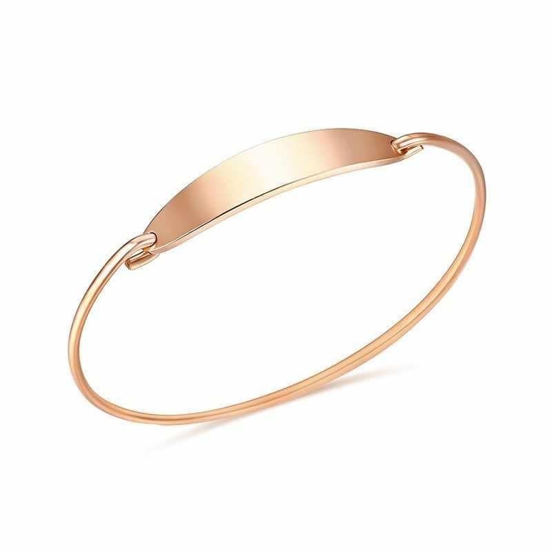 Vnox אלגנטי נשים של צמיד 585 עלה זהב צבע נירוסטה בנות קאף צמיד נקבה המפלגה תכשיטים