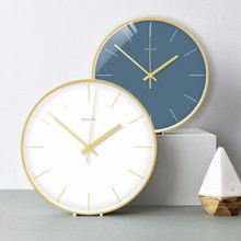 New 3D Wall Clock Solid Color Simple Quartz Duvar Saati Ultra-quiet Motion Modern Design Silent Movement Watch