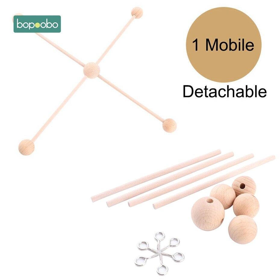 Bopoobo 1 Conjunto Quadro Cabide Cabide Bebê Berço Móvel Celular Artesanato DIY Ecofriendly Sensorial de Mascar Brinquedo Mordedor Chocalho Do Bebê
