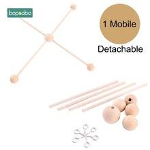 Bopoobo 1 ชุดไม้แขวนเสื้อเด็กเด็กทารก Crib แขวนกรอบรูป DIY หัตถกรรม Ecofriendly Sensory Chewing ของเล่นเด็ก Rattle Teether