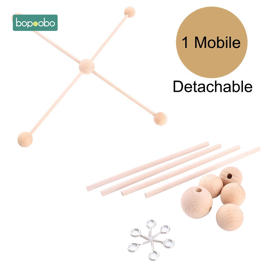 Bopoobo 1Set Baby Hanger Baby Mobile Crib Hanger Frame Mobile DIY Crafts Ecofriendly Sensory Chewing Toy Baby Rattle Teether(China)