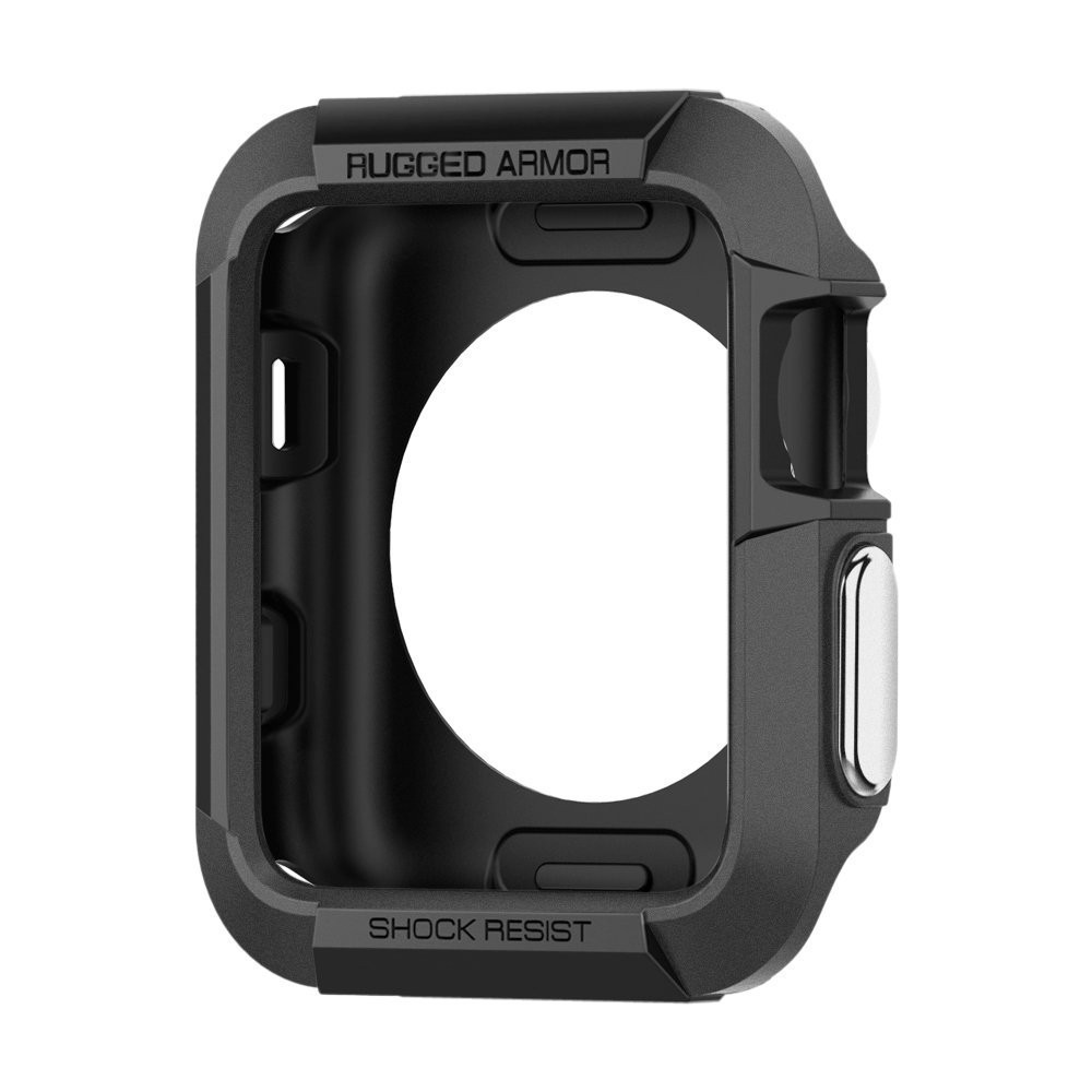 Rugged Armor Rubber Case For Apple Watch 4 3 2 1 40MM 44MM Protective TPU Strong Cover Screen Protector Cover For Iwatch 42MM